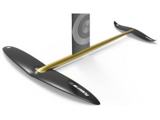 """WINGS FLIGHT wings are made of pre-preg carbon layup with inner foam construction for maximum durability to weight ratio. This setup creates a natural tendency to roll into turns maintaining a nice balance during your ride.  The front wing is designed with a pronounced rounded """"angle of attack"""" and an elliptical bend shape. While flying, this thick leading edge on the front wing naturally closes the radius of your turn, tightening it. Far back,  the angled down tail wings maintain a self- stabilizing roll allowing an easy turning performance.  During this momentum, the GLIDE tail wing will always come back to a flat position, stabilizing the turn."""